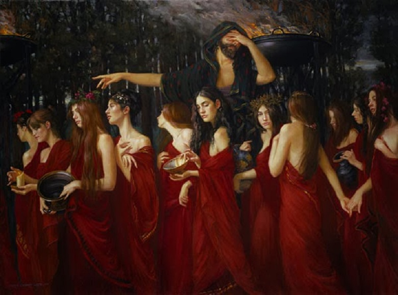 the mythological story of the daughters of danaus Prisoners of tartarus in greek mythology in the earliest greek myths, tartarus was considered to be a protogenoi god, a.